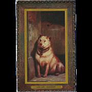 Raphael Tuck Oilette Postcard of Dog by Sir Edwin Landseer