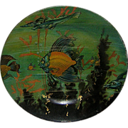 Vienna Art Plate Dresden Under the Sea by Meek Company, Coshocton 1908