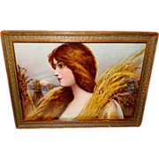 Beautiful Lady with Wheat by Ullman Mfg Company