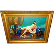 Cleopatra on Barge by Hy Hintermeister - Wood Frame