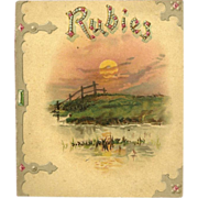 SOLD Rubies Religious Booklet Published by Ernest Nister Printed in Bavaria
