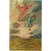 SOLD Embossed PFB Ten Commandment Postcard - 1 of 10