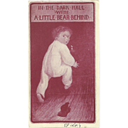 SOLD Souvenir Postcard 1907 Child with a Toy Bear