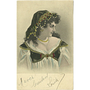 Undivided 1905 Postcard of Gypsy Style Lady