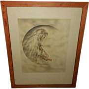 Vintage Photo Print of the Moon Madonna Copyright 1916