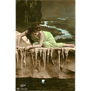 Tinted Rotophot Postcard of Lady by Traut - 2 of 2