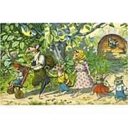 SOLD Max Kunzli Dressed Mice Postcard by Mainzer - Family Outing