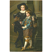 Undivided Early Art Postcard of Sons of Rubens