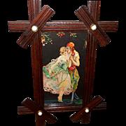 Small Marygold Tsanya Vintage Print of Romantic Couple
