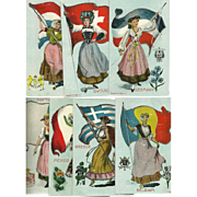 Seven Countries of the World Postcards by Platinachrome - Greece, Mexico, Portugal, Holland, .