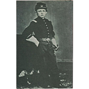 SOLD Vintage Photo Postcard of Tad Lincoln as Union Soldier