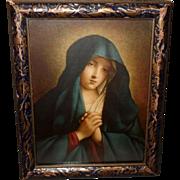 Madonna in Sorrow Vintage Print by Salvi da Sassoferrato