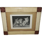 Julius Adam Four Kittens in Folk Art Frame - Perry Pictures