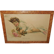 Bessie Pease Gutmann Print of The New Love - Girl with Doll and Teddy Bear - Tiger ...