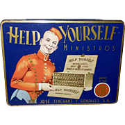 Cigar Tin Made in Holland - Help Yourself Ministros