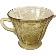 REDUCED Federal Madrid Amber Depression Glass Creamer