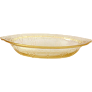 SOLD Hocking Cameo Ballerina Yellow Depression Glass Oval Vegetable Bowl
