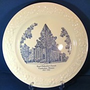 REDUCED First Methodist Church Kankakee Illinois 1950s Homer Laughlin Theme Commemorative Plat