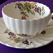REDUCED Copeland Spode Wicker Lane Cup and Saucer