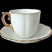 Royal Albert Bone China Countess White Cup and Saucer Gold Trim