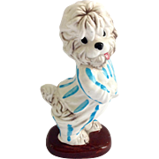 Walt Disney Shaggy Dog in Blue Striped Pajamas Enesco Figurine Circa 1960s
