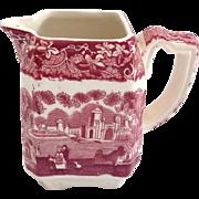 Mason's Vista Ironstone Red Pink Transfer Ware Small Square Creamer