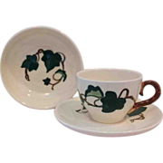 REDUCED Metlox Poppytrail 'California Ivy'  Fruit Bowl Cup and Saucer