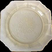 Hocking Princess Yellow Depression Glass 9-12 inch Dinner Plate