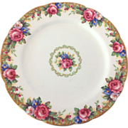 Paragon England Tapestry Rose Double Warrant Luncheon Plate Circa 1940s