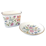 Minton Haddon Hall Cigarette Holder and Ashtray Set