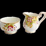 Royal Albert Bone China Clematis Cream and Sugar