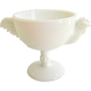 Westmoreland Milk Glass Rooster Cocktail Cup
