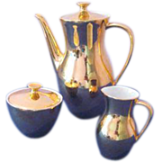Mitterteich Bavaria Gold Encrusted Porcelain Coffee Set