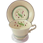 REDUCED Syracuse China Coralbel Platinum Trim Cup and Saucer