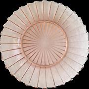 Jeannette Sierra Pinwheel Pink Depression Glass Dinner Plate