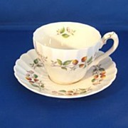 Myott Staffordshire Olde Chelsea 'Strawberry Festival' Cup and Saucer