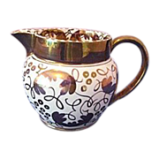 REDUCED Wedgwood C5623 Gold on White Leaves and Loops Oversized Creamer
