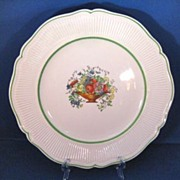 REDUCED 1920s Royal Doulton Tazza Dinner Plate with Green Bands