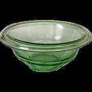 Hazel Atlas Rest Well Depression Glass Small Green Mixing Bowl