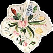 Southern Potteries Blue Ridge Verna World War II Era Leaf Shaped Handled Dish
