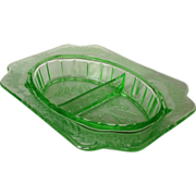 Adam Green Depression Glass Divided Relish
