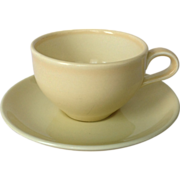 REDUCED Russell Wright Iroquois Casual Mid Century Yellow Cup and Saucer