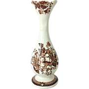 REDUCED Post WWII Royal Staffordshire Clarice Cliff Tonquin Brown Urn Shaped Bud Vase