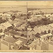Nantucket, Massachusetts Village Panorama Stereoview by Freeman