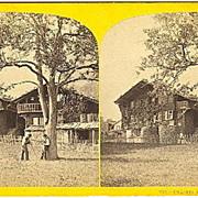 Early Brienz, Switzerland Chalet Stereoview by W.England