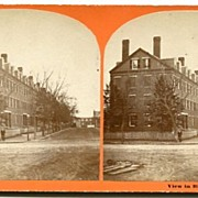 Biddeford, Maine Apartment Block Stereoview by Cole