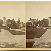 Amherst, Massachusetts College Library Stereoview by Lovell