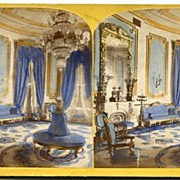 Washington DC White House Blue Room Stereoview by Jarvis