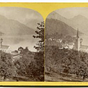Early Lucerne, Switzerland Wiggis Sur Le Lac Stereoview by W.England