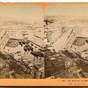 Naples, Italy le Port du Commerce Stereoview by J.A.